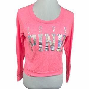 PINK Victoria's Secret Love Long Sleeve Shirt Pink